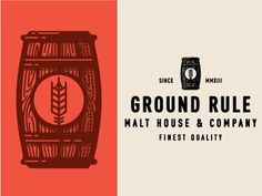 Ground rule_comps #logo #design #graphic #beer