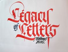 All sizes | Legacy of Letters | Flickr - Photo Sharing! #calligraphy #letter #luca #barcelona #type
