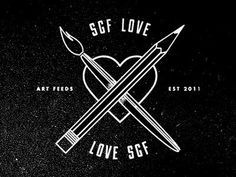 SGF Love #artfeeds #springfield #missouri #charity #design #shirt #art #midwest #mo #typography