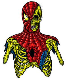 Fur Fantastic #spiderman #illustration #skeleton