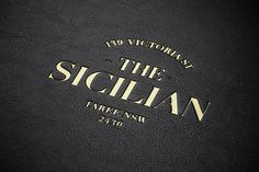 The Sicilian Foil Stamped menu