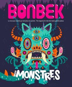 MONSTER! http://www.behance.net/gallery/MONSTRES-(-BONBEK-Magazine-4-)/6467211 #seb #feraut #niark1