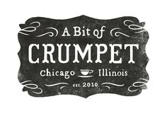 All sizes | A Bit of Crumpet logo | Flickr - Photo Sharing! #print #logo