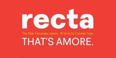 Recta™ - Webfont & Desktop font « MyFonts #canada #recta #type