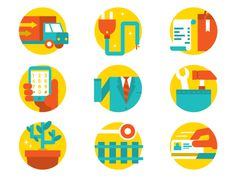 9 Categories of Workers #icon #picto #flat #symbol