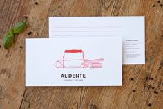 #aldente #corporate #illustration #red #food #catering #typography