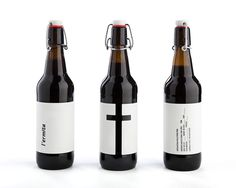 Cerveza L´ermita by Nueve #packaging #beer #bottle #minamalism