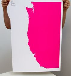 AisleOne - Graphic Design, Typography and Grid Systems #west #build #pink #hot #poster #coast