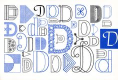 D, Embroidery Letterforms, Present and Correct
