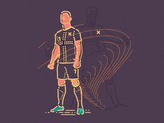 Cristiano Ronaldo x Colour and Lines