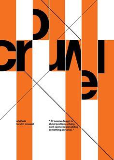 Wim Crouwel tribute posters