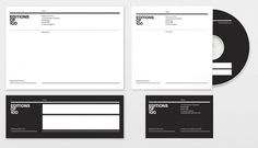 Editions of 100 | Gridness #branding #identification #design #graphic #corporate #letterhead