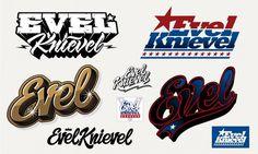 Evel Knievel lettering