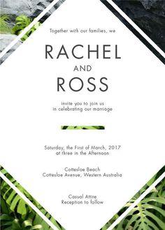 Modern Tropical - Wedding Invitations #paperlust #weddinginvitation #weddingstationery #weddinginspiration #design #paper #cards #print #di