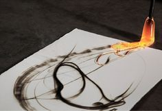the ANTHROPOLOGiST / IntoTheFire #painting #burn #fire