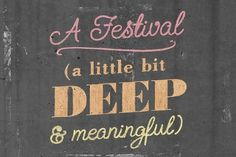 Ideas Festival 2011 - Alex Naghavi #graphic design #typography #chalk