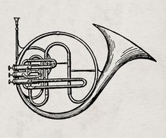 All sizes | Vintage trumpet illustration | Flickr - Photo Sharing! #music #illustration #vintage