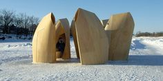 patkau architects: winnipeg skating shelters #shelters #architects #wood #skating #architecture #patkau #winnipeg