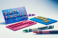 Crayon Business Cards by Dorota Pankowska