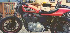 harley davidson 883r vintage 80s hd racer #hd #harley #retro #motorcycles #vintage #bike #motorcycle