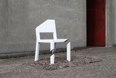 CJWHO ™ (The Cut Chair combines illusion with simple...) #cut #illusion #chair #design #funiture #interiors #art