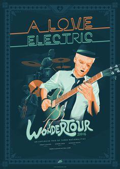 #Aloveelectric #jazz #jazzrock #psychedelic #toddclouser #hernanhecht #aaroncruz #band #music #poster #electricity #linework #shading #cross