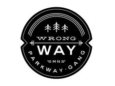FFFFOUND! | Dribbble - Mpls Bike Gangs / Wrong Way Parkway Gang by Allan Peters #logo #illustration
