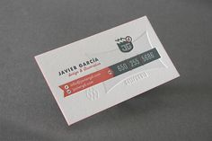 New Business Cards on the Behance Network #card #garcia #business #javier