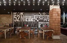"%"" North Bar and Kitchen London Soho #typography"