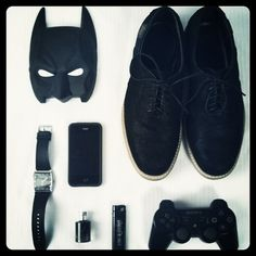 Instagram #white #shoes #watch #black #batman #iphone #lighter #and #organized