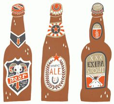 Owen Davey Illustration #beer #illustration