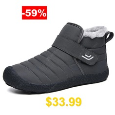 AILADUN #Men #Mid-high #Keep #Warm #Snow #Boots #Large #Size #Casual #Outdoor #Shoes #- #GRAY