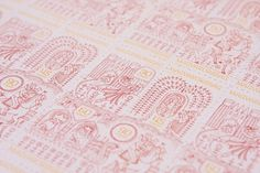 Stamp design for hungarian folk tales on the Behance Network #hungary #stamp #illustration #pattern