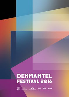 Dekmantel Festival 2016 Artwork / Posters by James Kirkup
