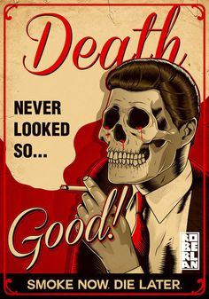 Vectors July 2014 on Behance #humour #macabre #design #drugs #illustration #vintage #poster #tobacco #skull #smoking #death #typography