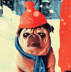 Damien Sandow by El Diablo on Behance #el #diablo #pug #winter