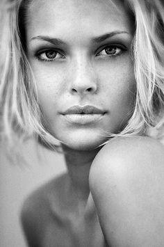 portrait woman lady girl hair body eyes