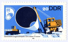 DDR Stamps from Berlin » ISO50 Blog – The Blog of Scott Hansen (Tycho / ISO50) #stamp #illustration #german