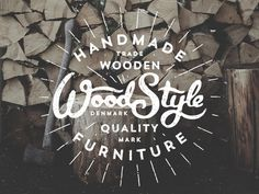 Woodstyle by Jacob Nielsen #lettering #design #identity #logo #typography