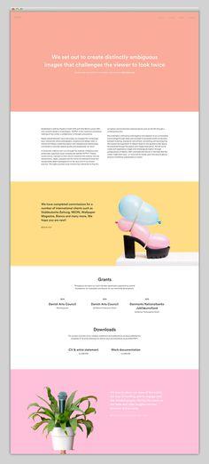 Nice use of colour #webdesign #minimal #design #beautiful #website #award #web