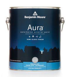Benjamin Moore Aura Exterior #packaging #can #paint