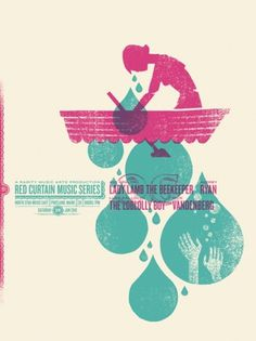 GigPosters.com - Nick Vandenberg - Loblolly Boy, The - Audrey Ryan - Lady Lamb The Beekeeper #illustration #gig #poster #warm