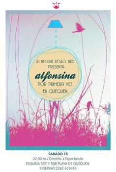 Poster by Alfonsina #el #desde #design #alfonsina #indie #posters #music #mar #quequen