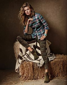 Edita Vilkeviciute for Lucky Brand's Fall Campaign #fashion #model #photography #girl