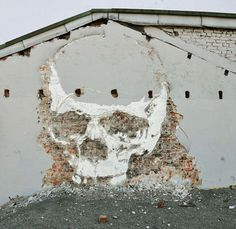 this isn't happiness™ (Nuart Festival, Vhils) #skull #wallpaper #picture #wall
