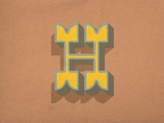Dribbble - H by dan gneiding #type #letter #font #h