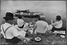 Henri Cartier-Bresson. FRANCE. Sunday on the banks of the River Seine. 1938. #magnum #photography #henri #cartier-bresson