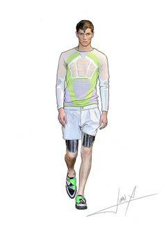 dc09004edfee763041ac196e376a8fe2.jpg (JPEG Image, 600×833 pixels) #illustration #fashion #men #mugler