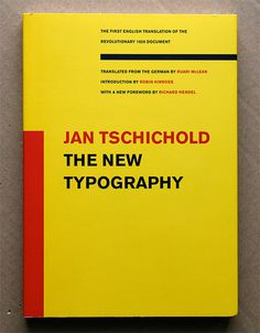 Jan Tschichold. The New Typography. #serif #tschichold #sans #typography