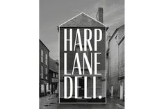 harp lane deli #deli #harp #white #house #branding #b&w #lane #black #and #logo